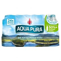 Aqua Pura Still Natural Mineral Water 24 x 500ml