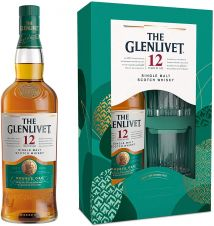 The Glenlivet 12 Year Old GiftPack with Two Glasses 70cl