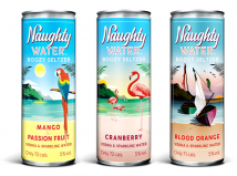 Naughty Water Mixed Fruit Flavours 12 x 250ml