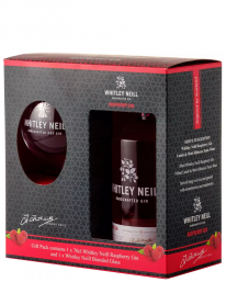 Whitley Neill Raspberry Gin 70cl Giftset With Glass